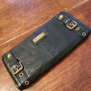 Black Leather wallet Franco Sarto